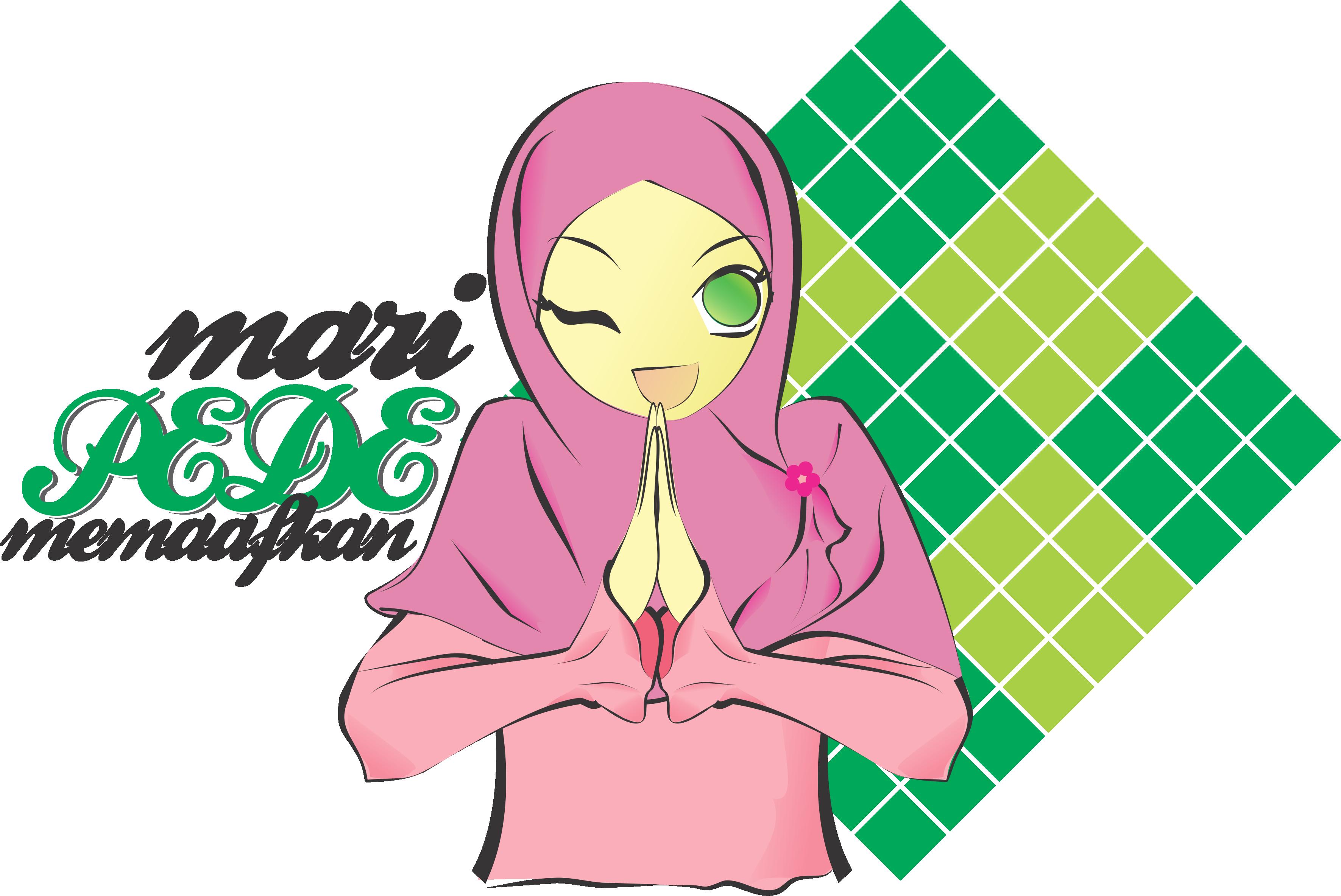 Galeri Gambar Kartun Muslim Lebaran Phontekno